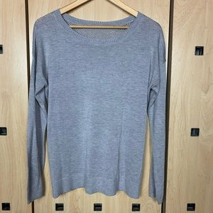 Lululemon Knit Perforated Crew Sweater